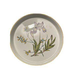 """SPODE Stafford Flowers Gilded 7.5"""" Quiche Dish"""